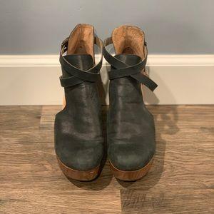 Free People Cedar Clog Black Leather 38